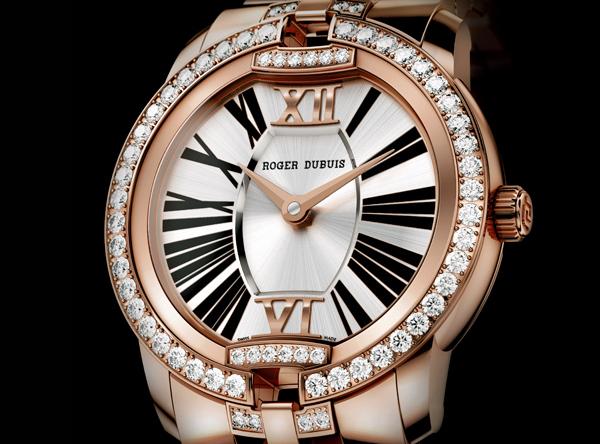 罗杰杜彼Velvet玫瑰金镶钻自动上链腕表
